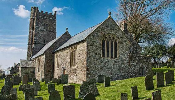 Church Exterior Churchyard 15th Century West Tower Medieval Langtree