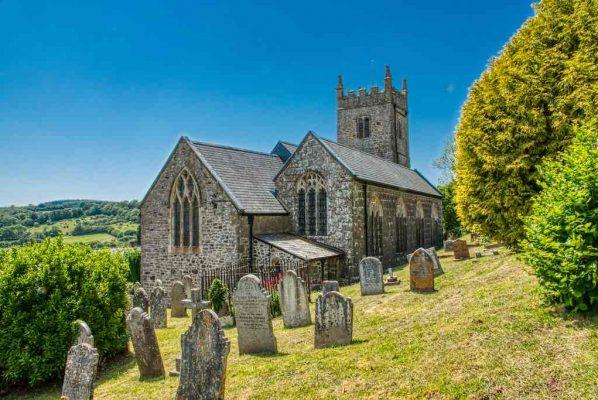 Church Exterior Granite Stonework Chancel Churchyard 15th Century Medieval Bridford