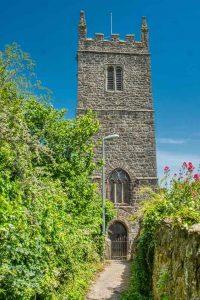 Church Exterior Granite Stonework Chancel West Tower 15th Century Medieval Bridford
