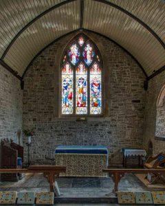 Church Interior Chancel Altar East Window 14th Century Medieval Bridford