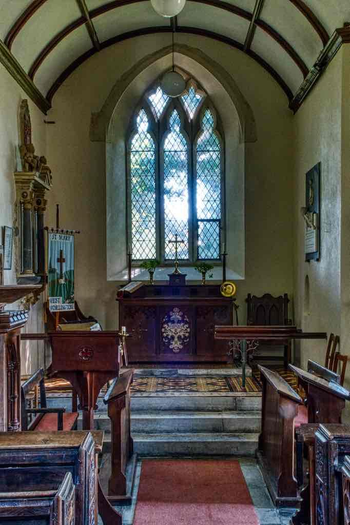 The 14th century chancel