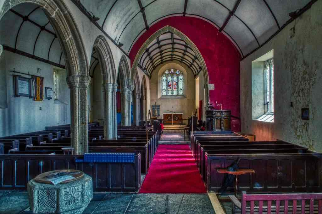 Looking up the nave in Langtree