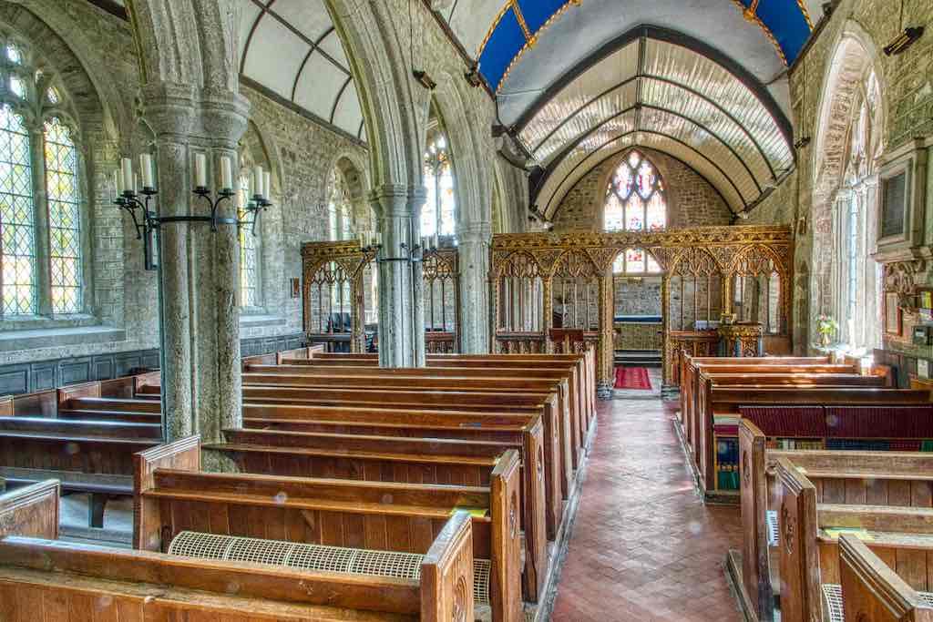 A proper Dartmoor church, wood and granite in total agreement