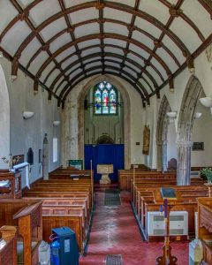 Church Interior Nave Pew Tower Arch Font 15th Century Medieval Rackenford