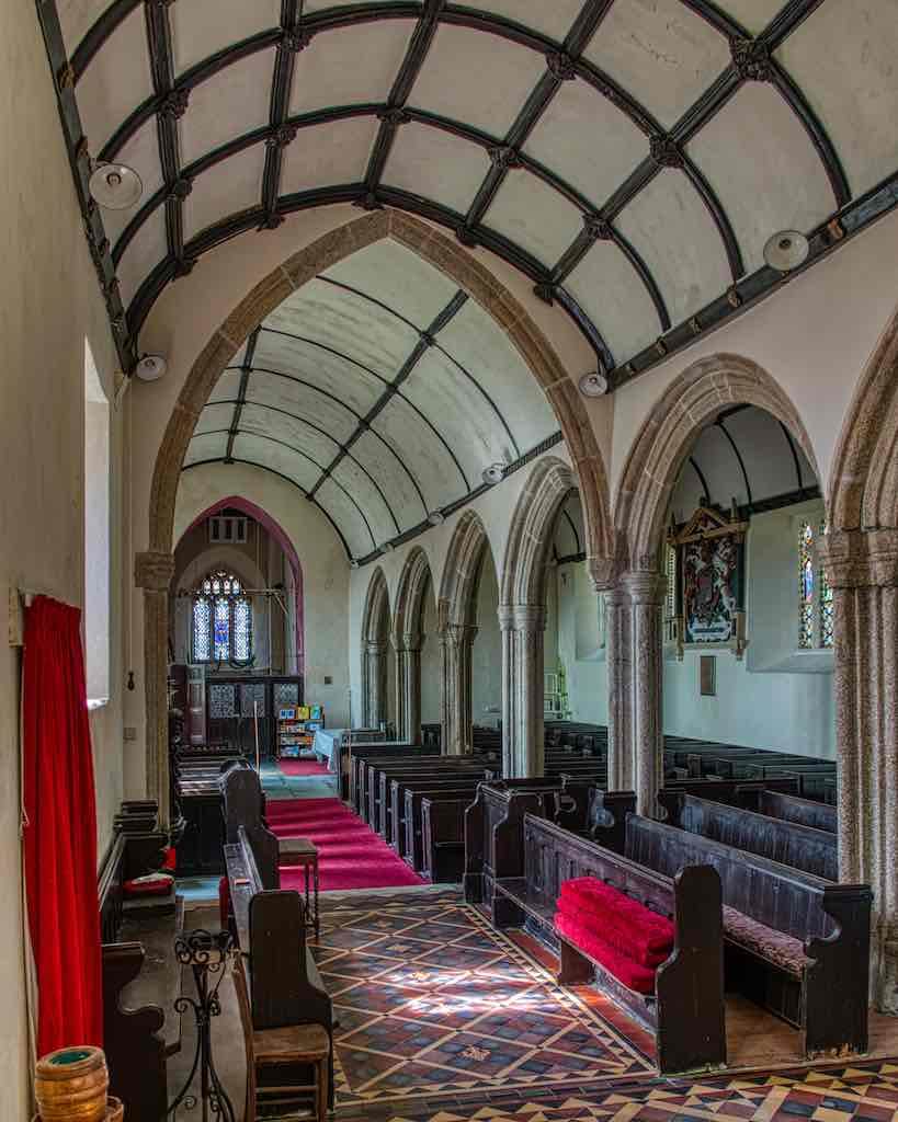And looking down the nave, with that lovely arcade