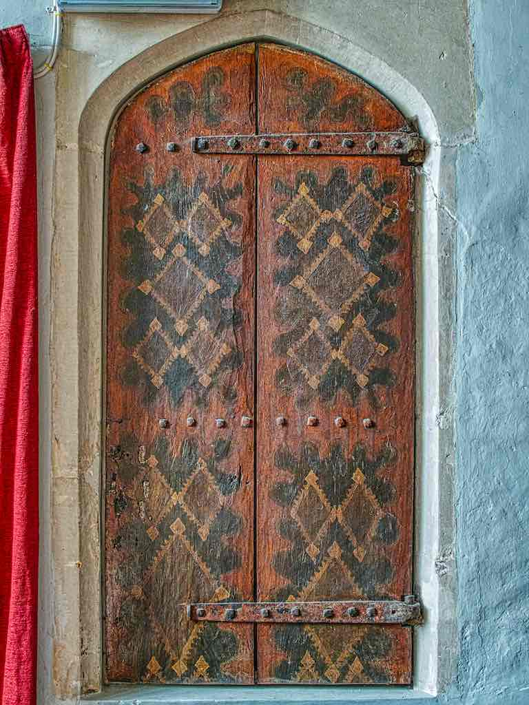 A marvellous survivor, the door to the rood stairs
