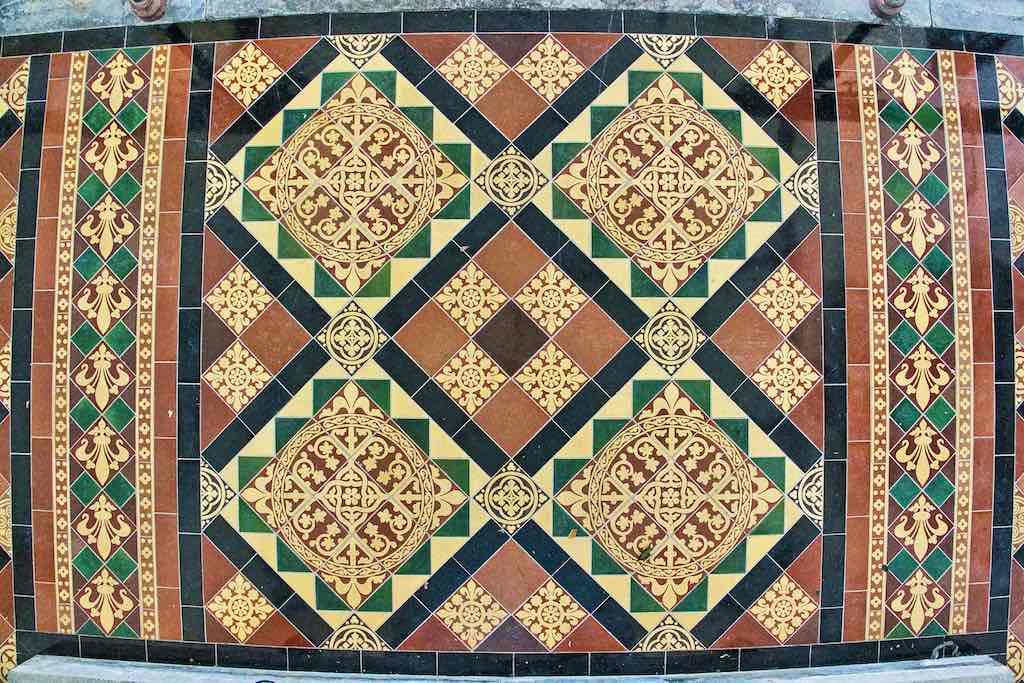 Delightful Victorian floor tiles