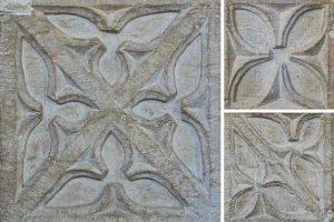 Font Limestone Stone Carving Plain Foliage 15th Century Medieval Rackenford