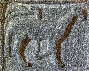 Lamb Of God Agnus Dei Font Granite Stone Carving Plain Medieval 14th Century Langtree