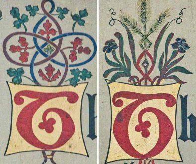 Letters Calligraphy Painting Board Ten Commandments Chancel Victorian 19th Century Kentisbeare