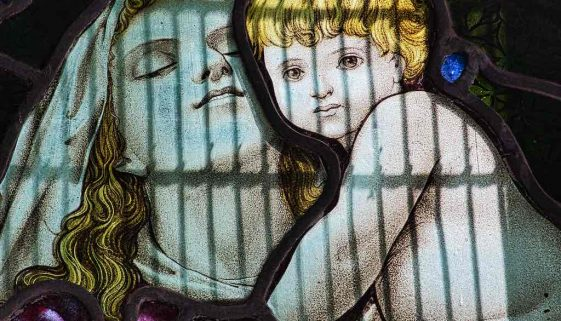 Mary Madonna And Child Christ Stained Glass Victorian 19th Century West Worlington