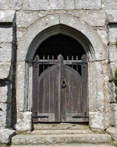 Porch Exterior Door Granite Stonework Stone Carving Plain 15th Century Medieval Bridford