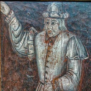 Rood Screen Grisaille Painting Man 16th Century Bridford