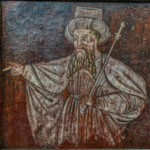Rood Screen Grisaille Painting Turk Man 16th Century Bridford