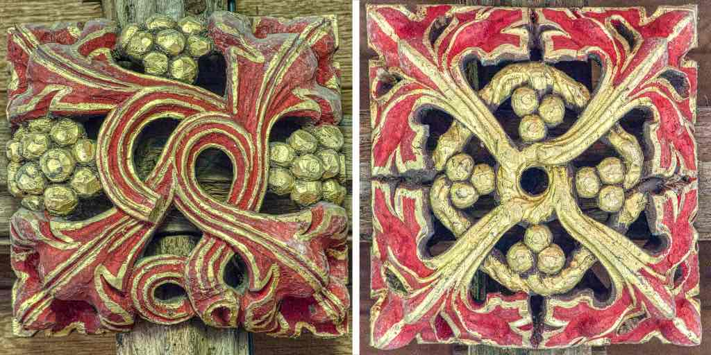 Old roof bosses, more recent colouring