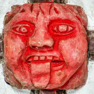 Roof Boss Wood Carving Coloured Sins Of The Tongue 15th Century Medieval Bridford