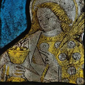 Stained Glass Saint John 15th Century Medieval Bridford