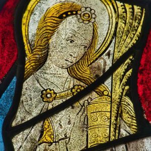 Stained Glass Saint Mary Magdalene 15th Century Medieval Bridford