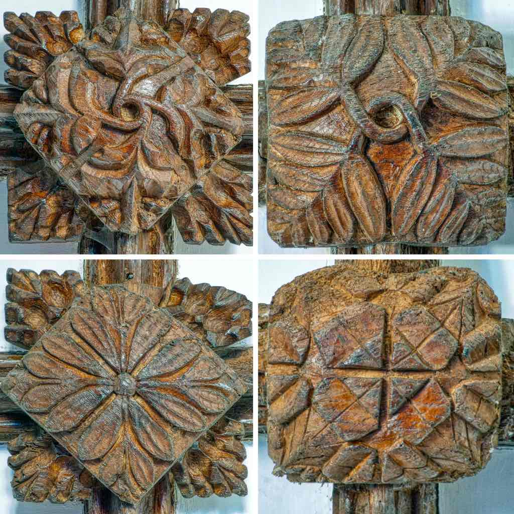 Medieval roofbosses full of foliage