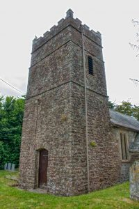 Church Exterior Stonework Tower West Tower 14th Century Medieval Kennerleigh