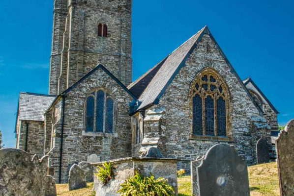 Church Exterior West Tower Chancel Churchyard 15th Century Medieval South Pool