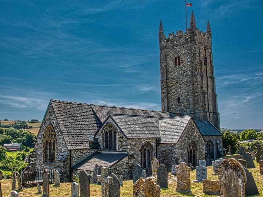 South Pool Church of St. Nicholas and St. Cyriac, a lovely 15th century church deep in South Devon