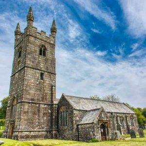 Church Granite Exterior West Tower Stonework Dartmoor 15th Century Medieval Sheepstor