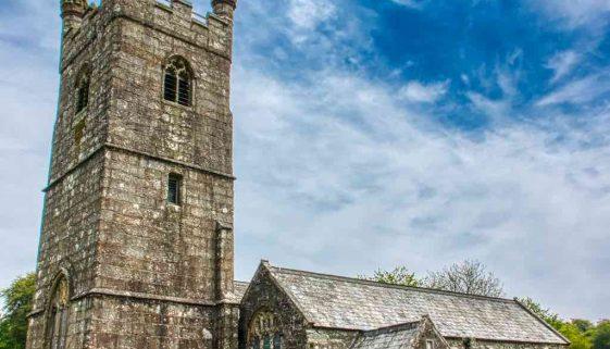 Church Granite Exterior West Tower Stonework Dartmoor 15th Century Medieval Sheepstor