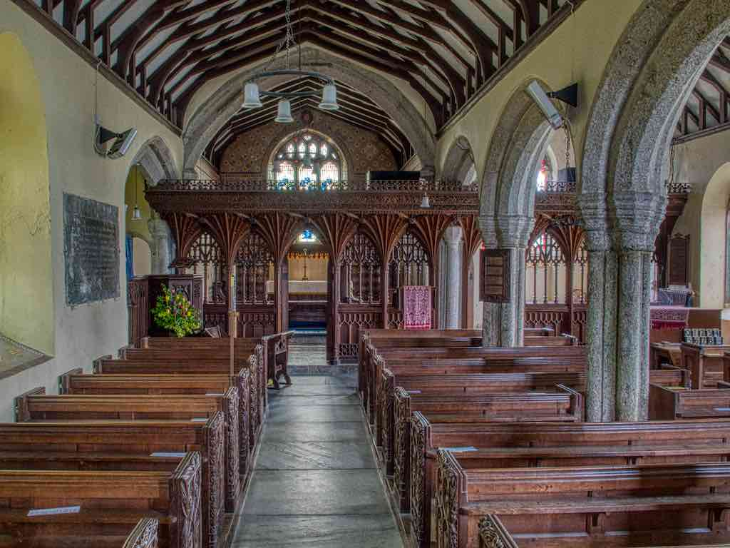 The 15th century nave