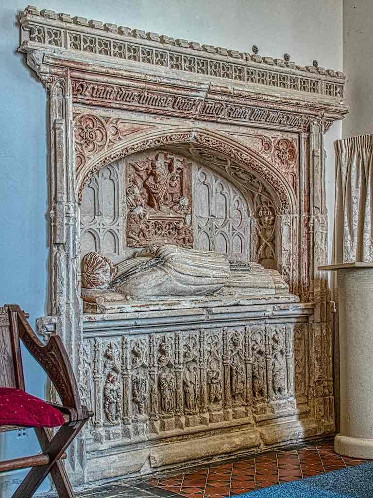 The 16th century Easter Sepulchre niche
