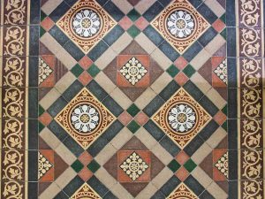 Encaustic Floor Tiles 19th Century Victorian Sheepstor