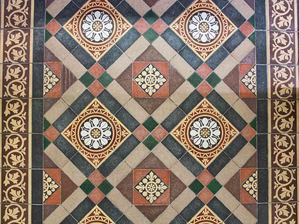 Encaustic Floor Tiles 19th Century Victorian Sheepstor