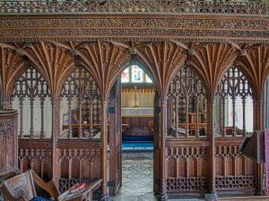 Rood Screen Vaulting Cornice Tracery Wainscoting Wood Carving Plain Herbert Read 20th Century Sheepstor