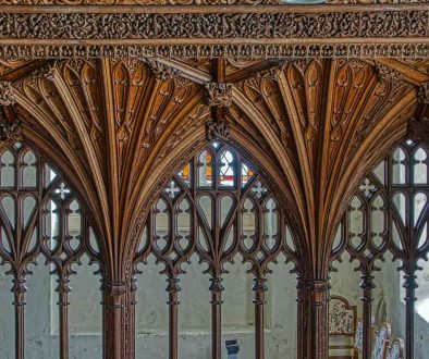 Rood Screen Vaulting Cornice Tracery Wood Carving Plain Herbert Read 20th Century Sheepstor