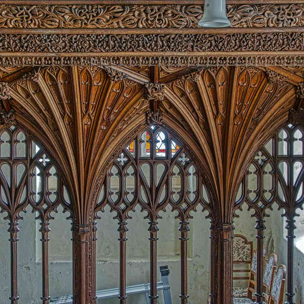 Brilliant vaulting on the rood screen