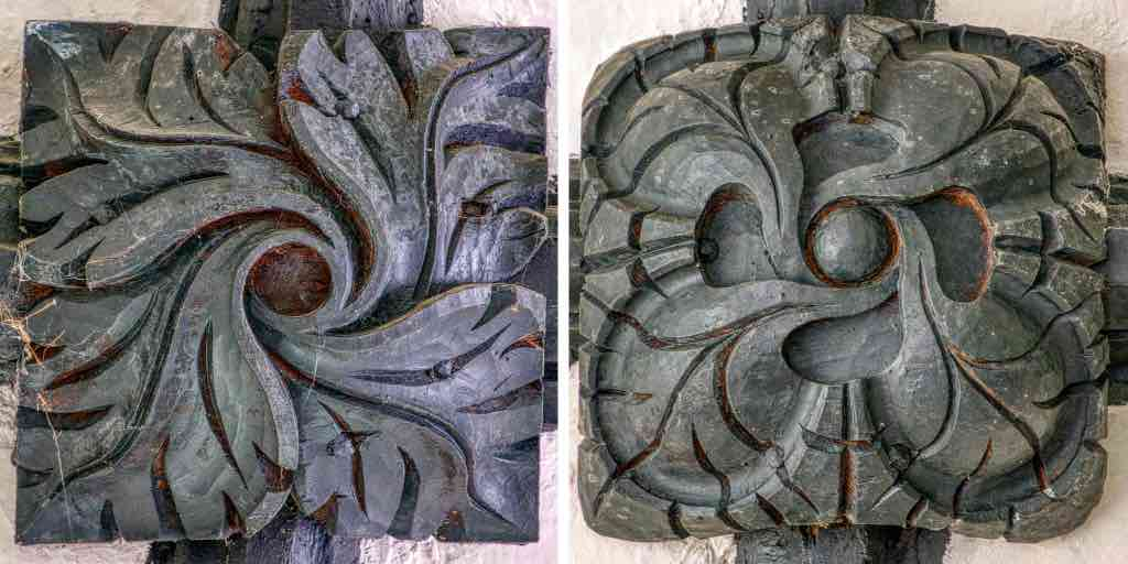 More 15th century roof bosses, the same age as the Titivillus one