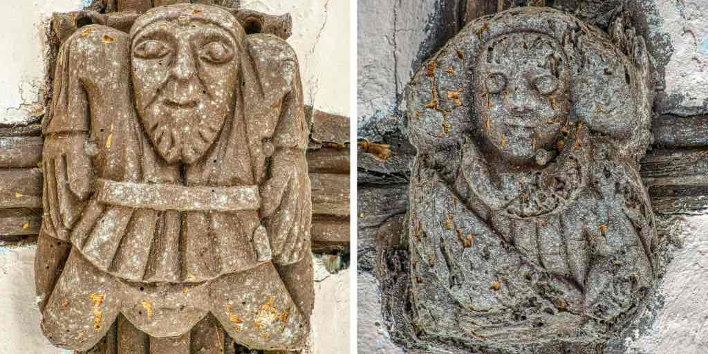 A couple of lovely 15/16th century roof bosses