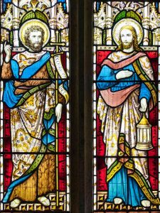 Stained Glass John The Baptist Christ 19th Century Victorian Sheepstor