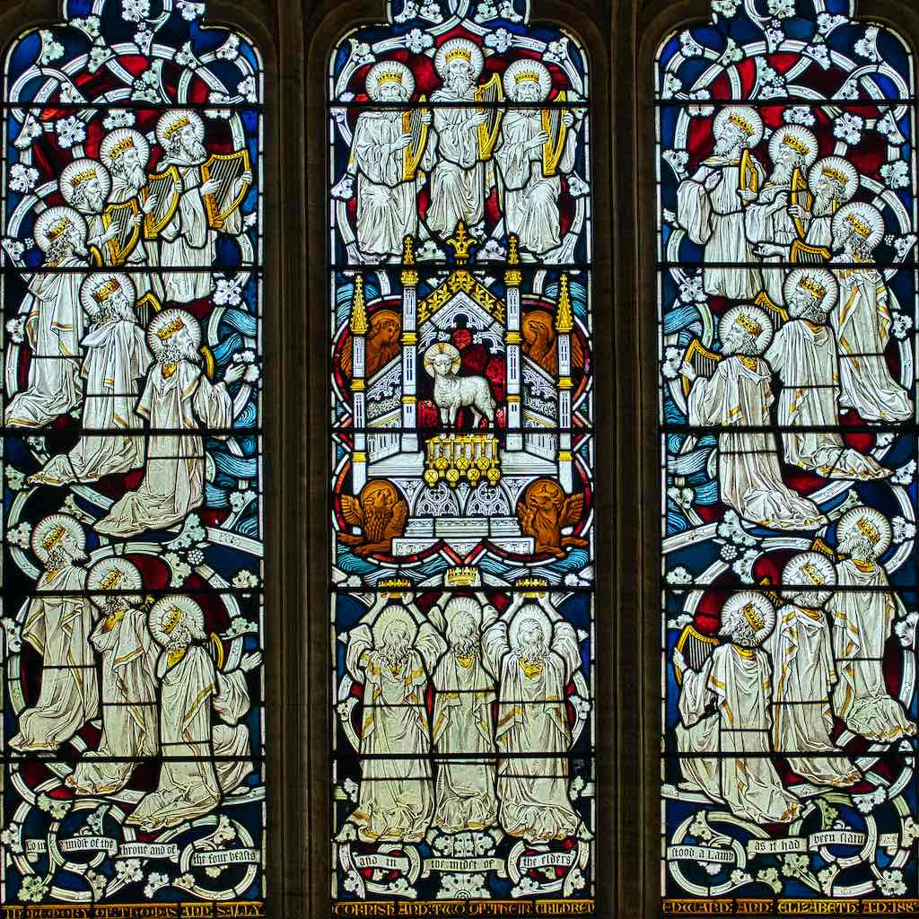 The East Window, glorious colour and complexity