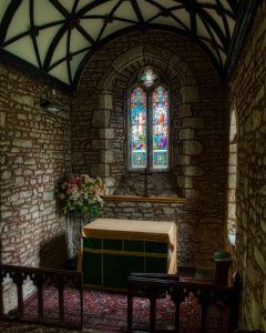 Stonework Chancel Altar East Window 14th Century Medieval Kennerleigh