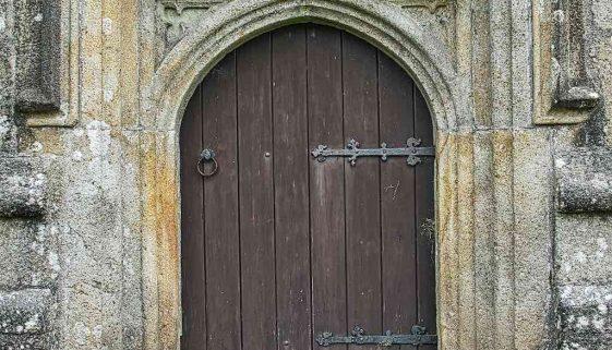 West Door Volcanic Stone Carving Plain Stonework Dartmoor 15th Century Medieval Sheepstor