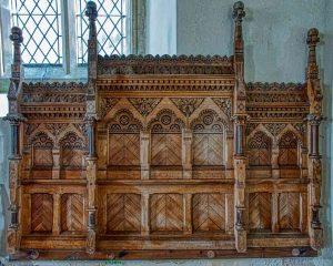 Altar Back Wood Carving Plain 20th Century Burrington