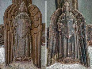Angel Wood Carving Plain 15th Century Medieval Burrington