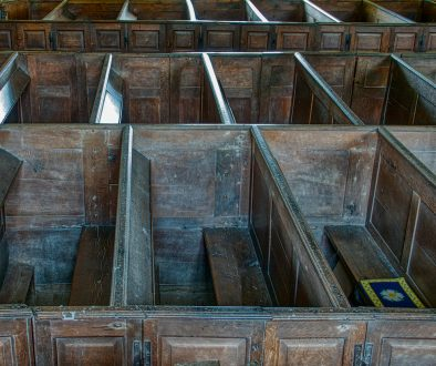 Box Pews Wood Carving Plain 18th Century Molland