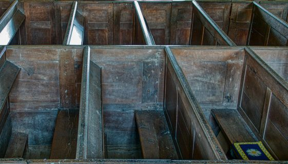 Box Pews Wood Carving Plain 18th Century Molland