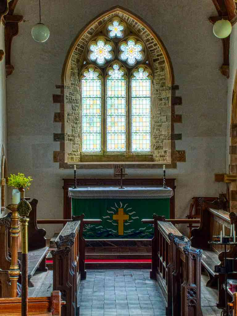 Whilst the chancel is probably 14th century the interior is all Victorian
