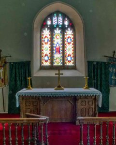 Chancel Sanctuary Altar East Window 15th Century Medieval Burrington