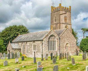 Church Exterior Churchyard South Aisle East Window North Tower 15th Century Medieval Burrington