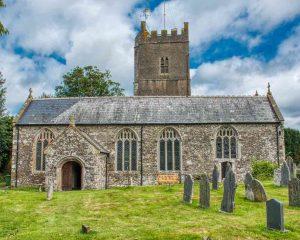 Church Exterior Churchyard South Aisle North Tower 15th Century Medieval Burrington
