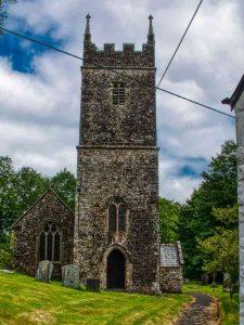 Church Exterior West Tower Stonework 16th Century Medieval Bradford